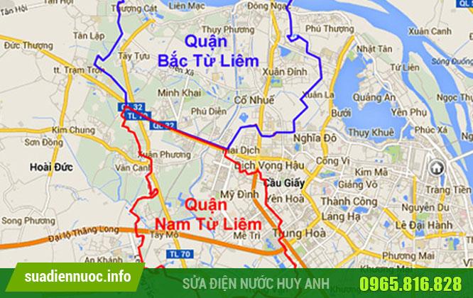 Cơ sở Hồ Tùng Mậu sửa máy bơm quận Từ Liêm