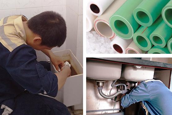 Thợ sửa điện nước Huy Anh cẩn thận