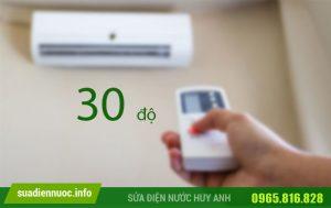 Bật điều hòa 30 độ có tốn điện không?
