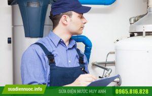 Có bao nhiêu bước khi sử dụng dịch vụ sửa bình nóng lạnh tại Đống Đa